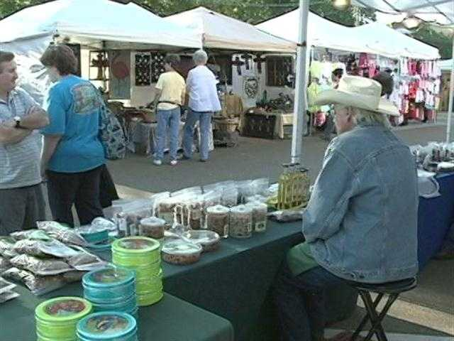 The flea market is a biannual shopping extravaganza