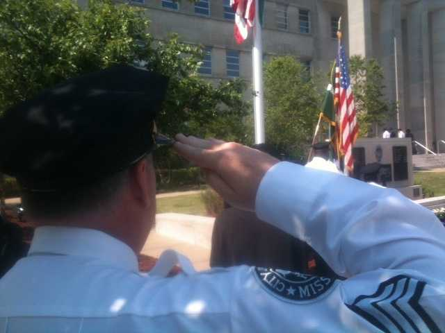 In honor of National Police Week, the Jackson Police Department held its annual police officer memorial service.