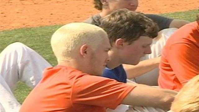 As a symbol of team unity, Madison Central's baseball team goes blonde