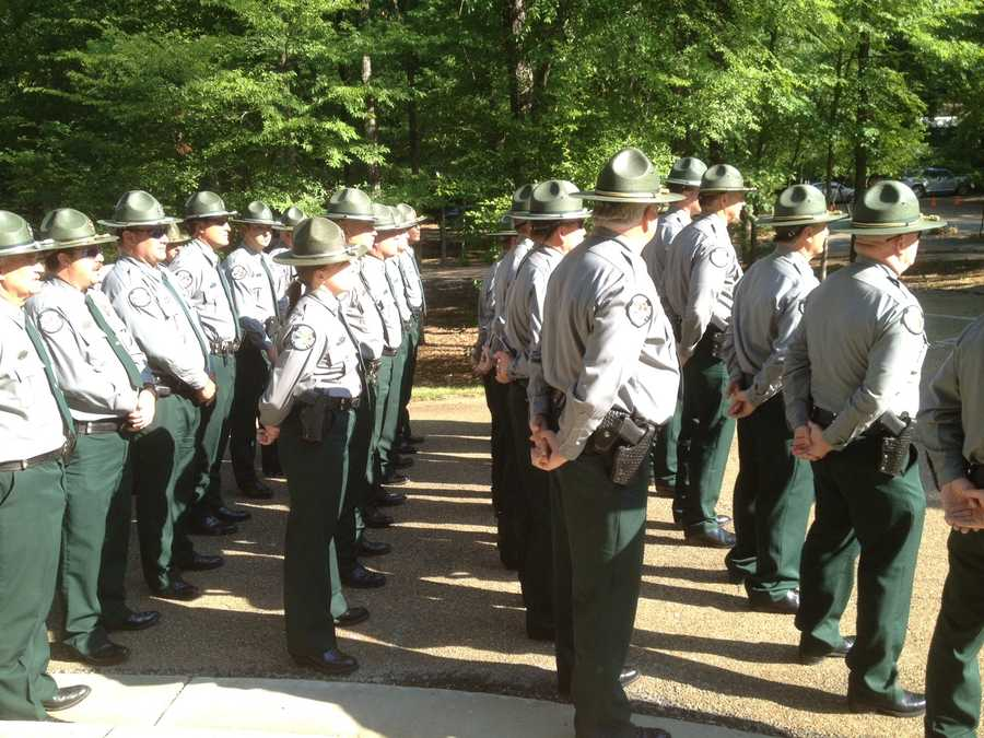 The Mississippi Department of Wildlife, Fisheries and Parks held a memorial service for fallen officers.