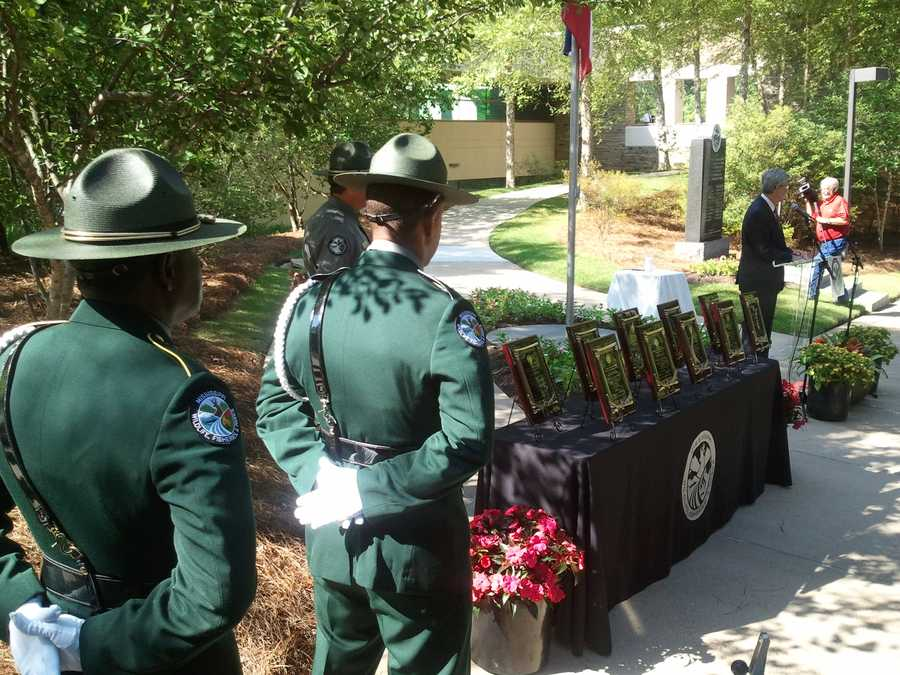 The ceremony also served as the official dedication of a memorial erected in Jackson in 2007.