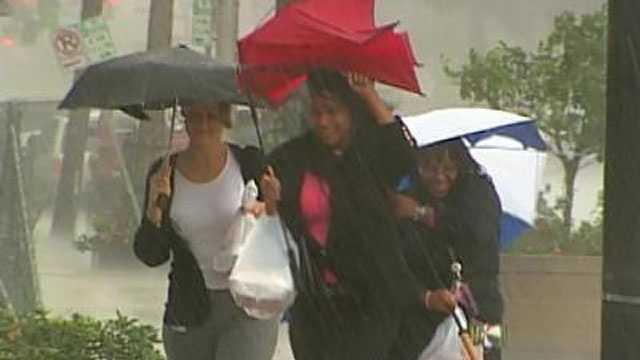 Heavy rain umbrella
