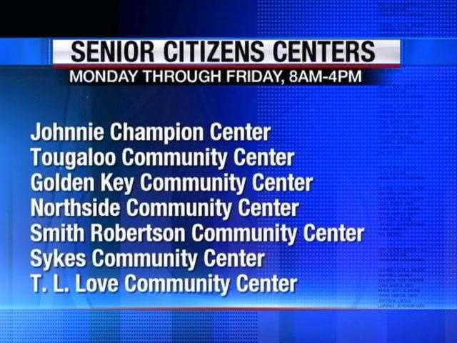Cooling centers are open in Jackson to provide a cool place for senior citizens to get out of the heat.