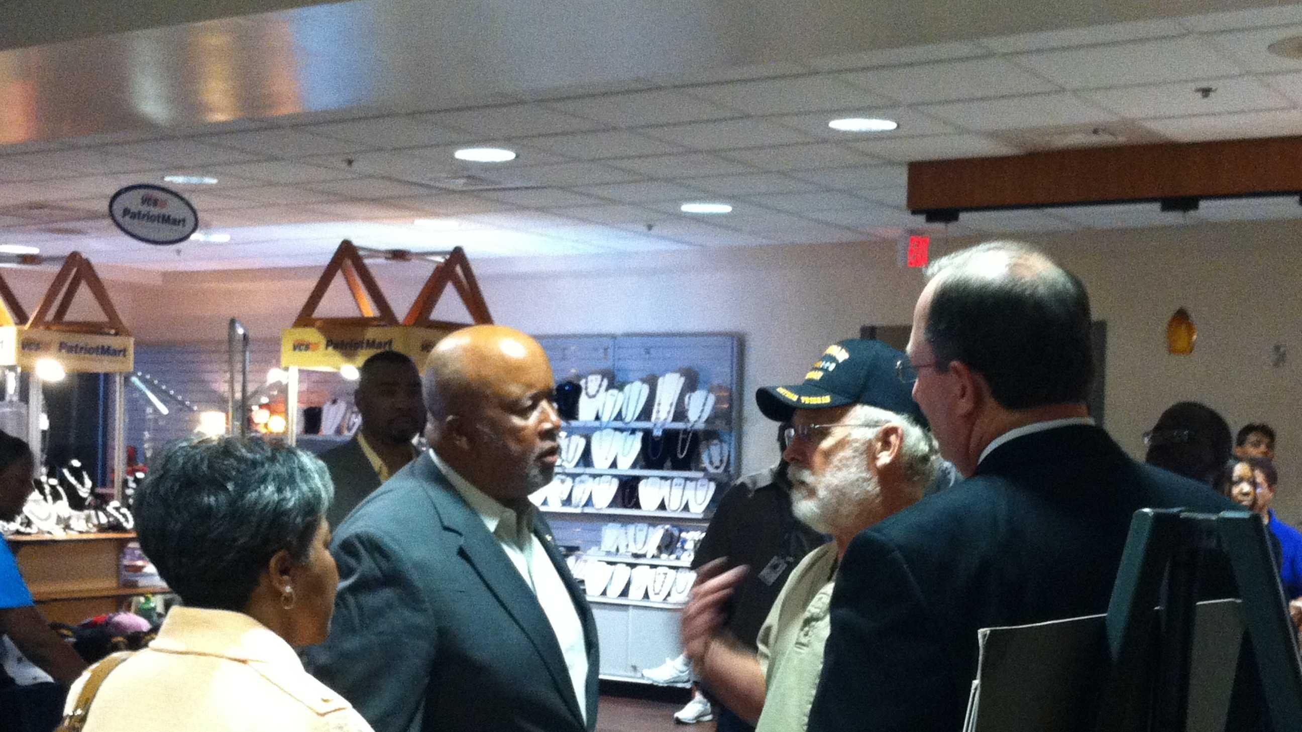 U.S. Rep. Bennie Thompson tours the VA hospital in Jackson.