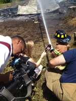 """How long have you been fighting fires?"" 16 WAPT's Erin Kelly asked. ""A long time,"" Seth replied."