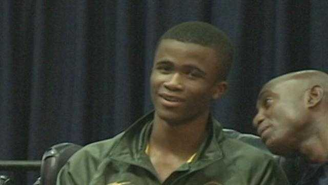 Anaso Jobodwanna returns to JSU after competing in the London Olympic games.