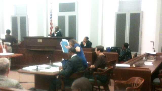 Charles Kuebler in court.