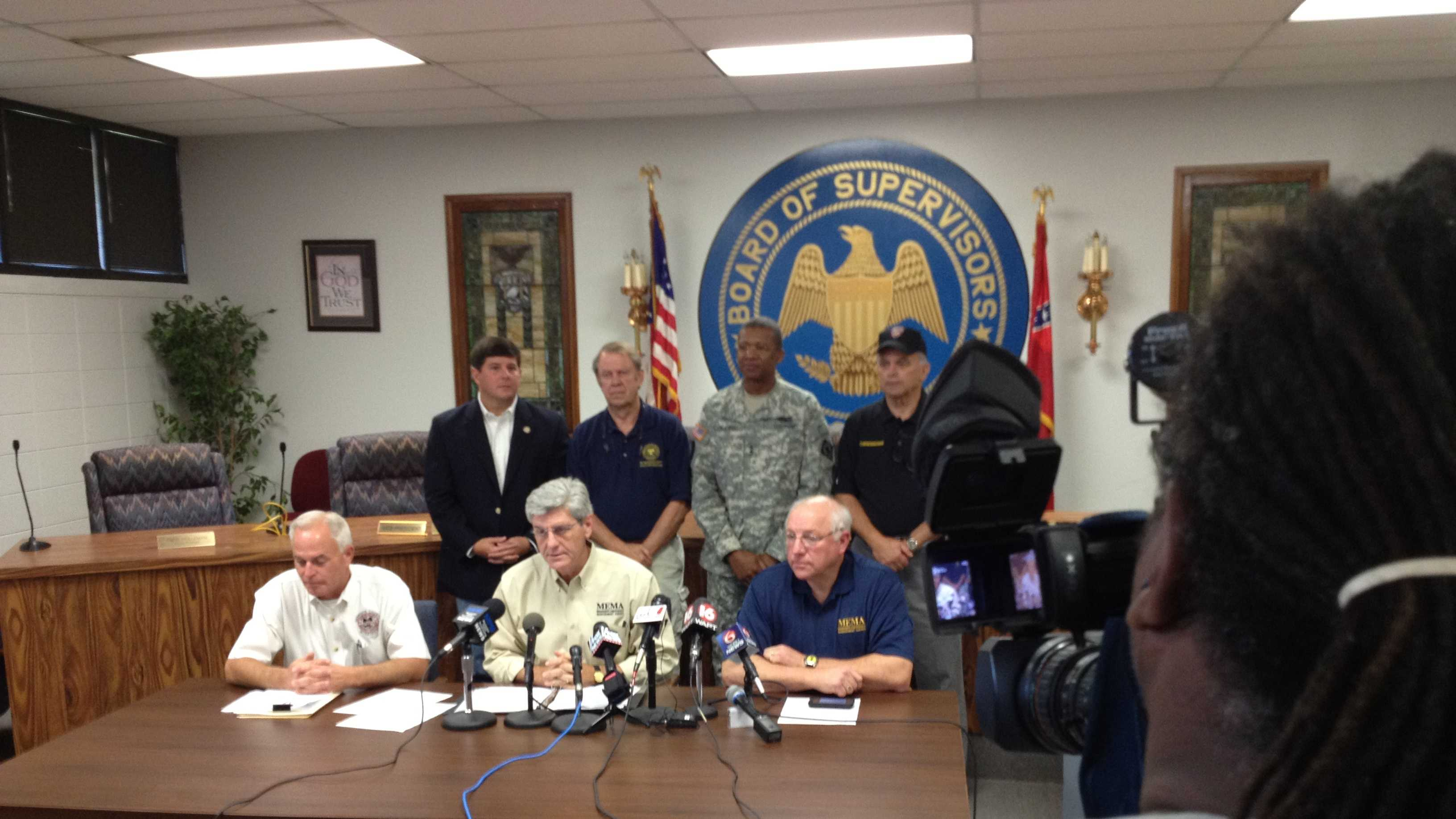 Gov. Bryant holds a news conference Monday from the Gulf Coast.