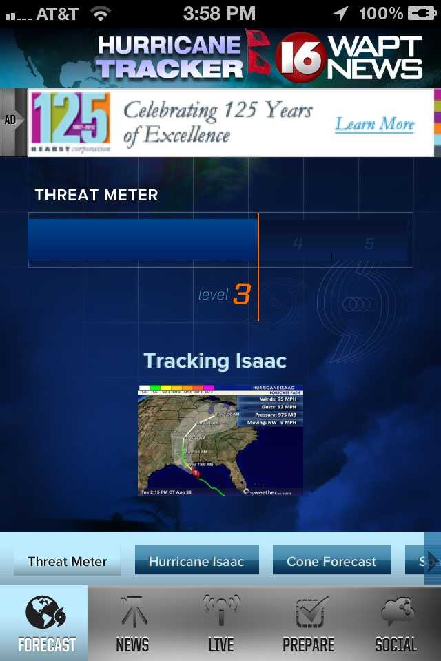 Download the WAPT Hurricane Tracker mobile app for iPhoneor Android