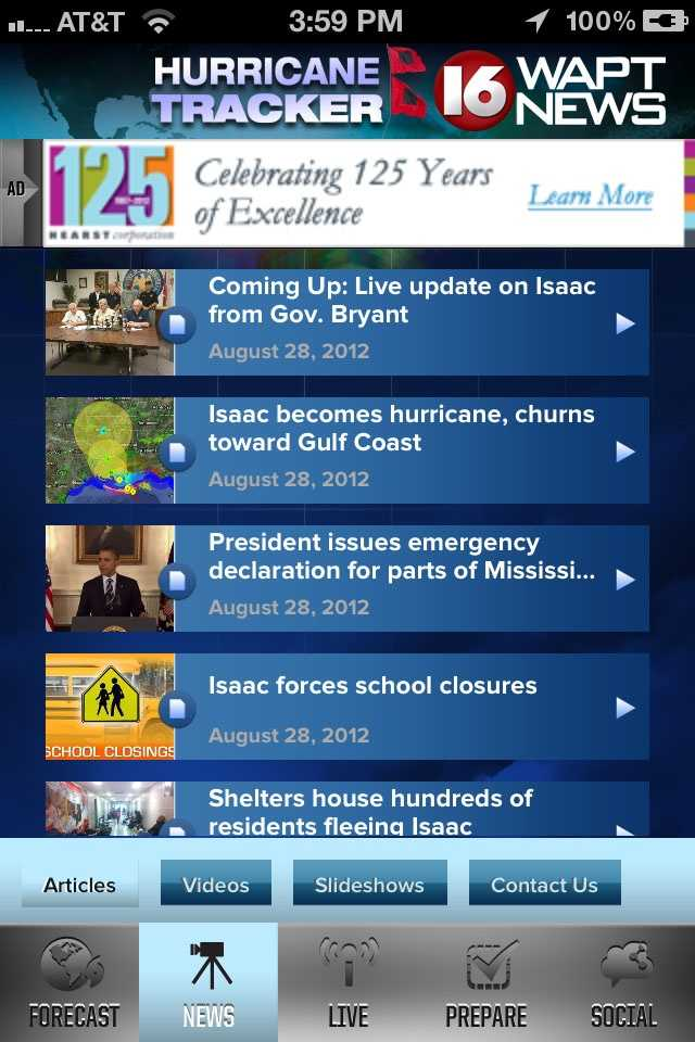 Download the WAPT Hurricane Tracker mobile app for iPhone or Android