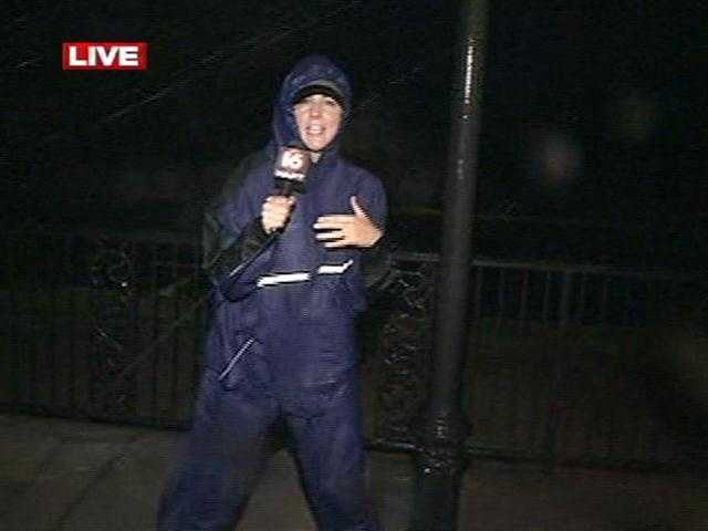 16 WAPT's Meg Pace is live in Bay St. Louis as Hurricane Isaac pounds the Gulf Coast.