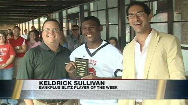 Week 2 winner of the BankPlus Blitz 16 Player of the Week is Keldrick Sullivan and Pelahatchie comes out to support their star running back