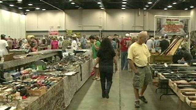 Thousands attended this weekend's Jackson Gun Show at the Mississippi Trade Mart.