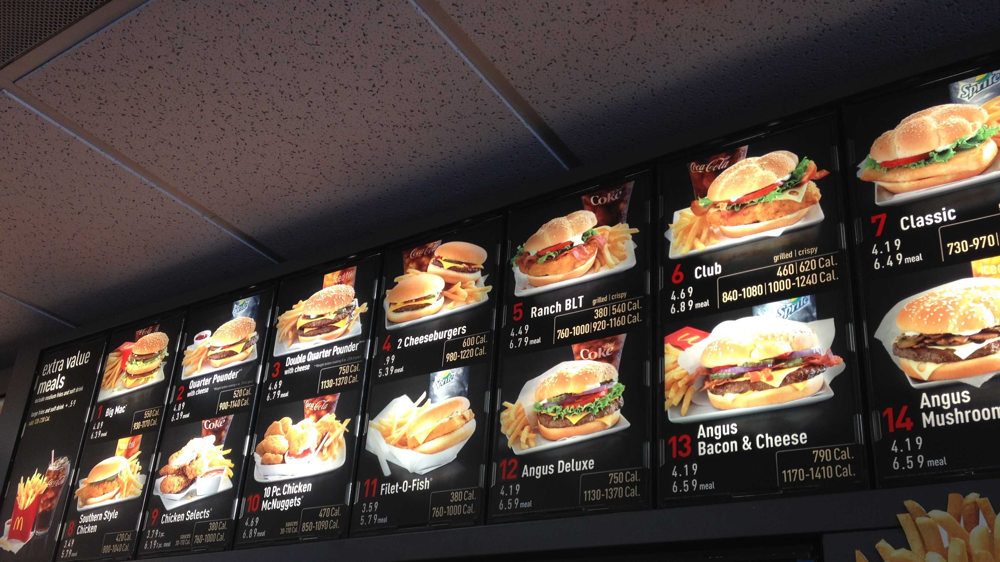 McDonald's restaurants across the country will soon get a new menu addition: The number of calories in the chain's burgers and fries.