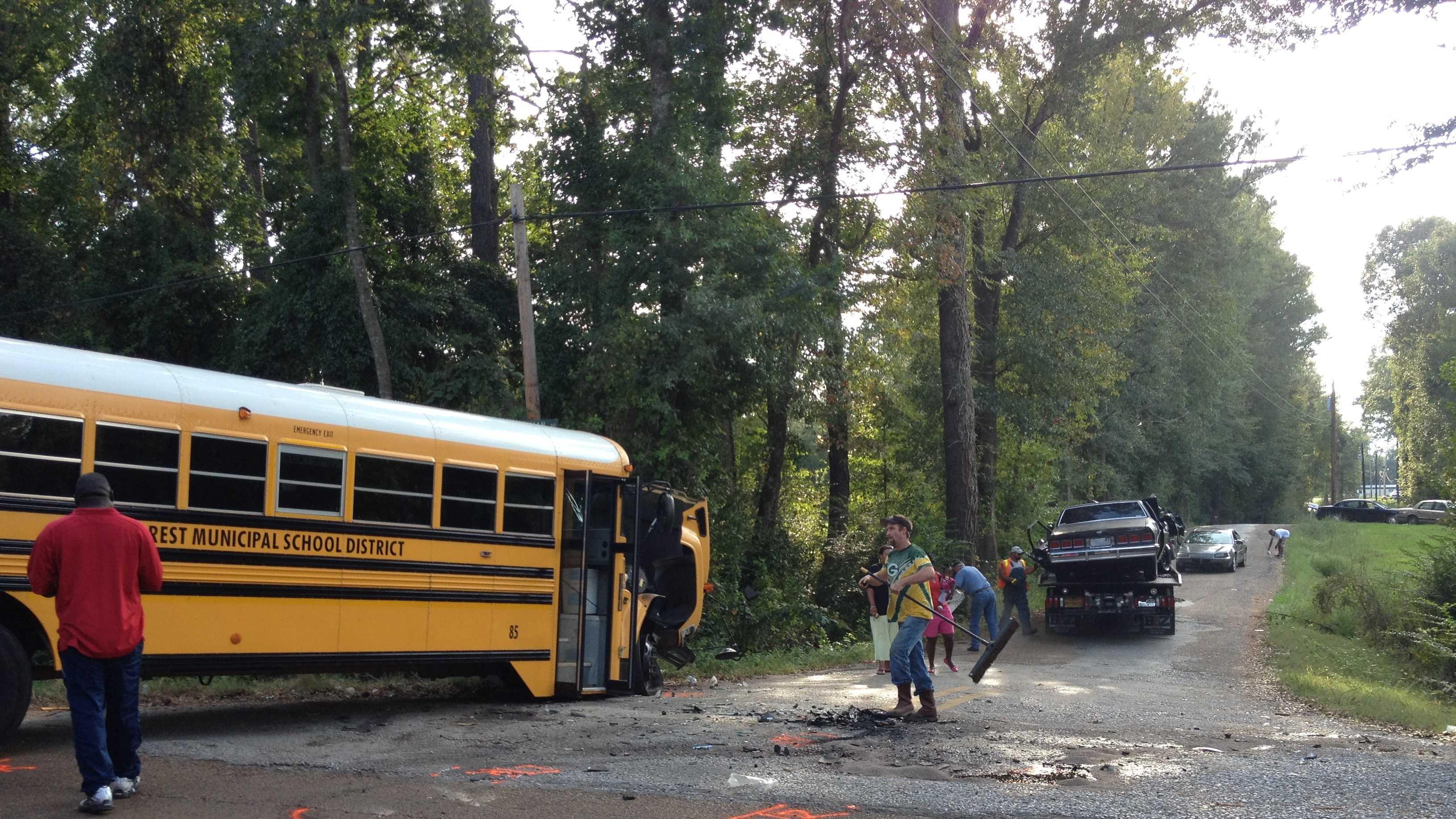 School bus crash in Scott County