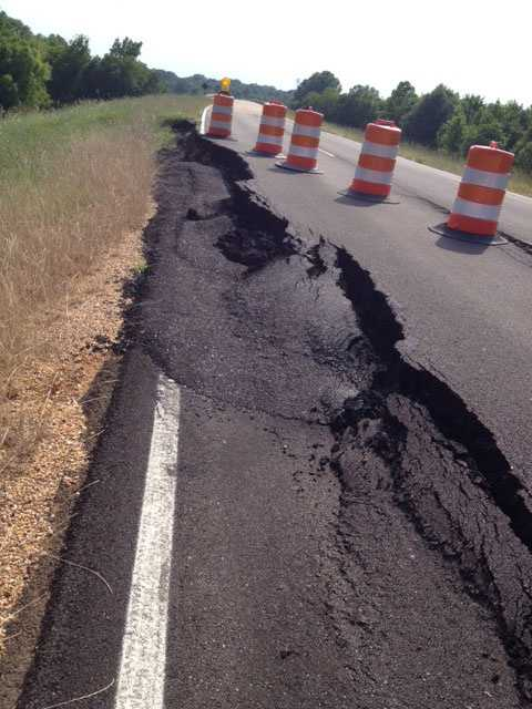 The stretch was closed to allow crews to repair 1/4 mile of the area where National Park officials say the Yazoo Clay slipped.