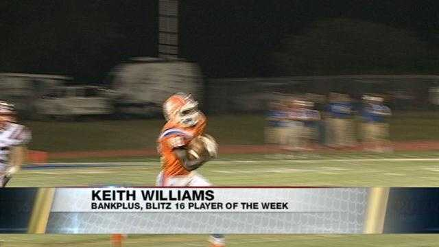 Madison Central wide receiver Keith Williams is the BankPlus, Blitz 16 Player of the Week in week five