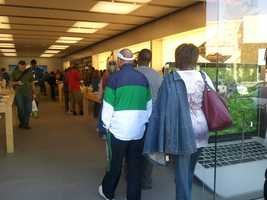 The iPhone 5 went on sale at 8 a.m. Friday.