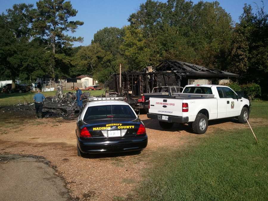 The fire started in the garage at the home on Bo Murphy Road in Gluckstadt, officials say.
