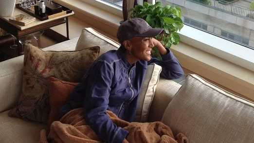 Robin Roberts home from hospital