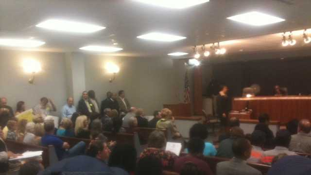 The Hinds County Board of Supervisors meeting was standing room only Monday.