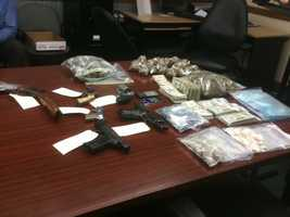 The Madison County Sheriff's Department seizes $22,000 in cash, 3 lbs. of marijuana and 4 oz. of cocaine.