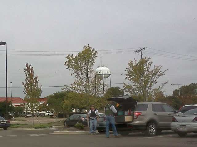 A 16 WAPT News viewer took pictures of Madison police as the manhunt was under way.