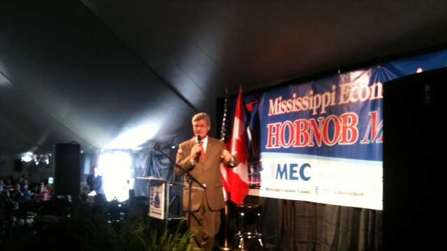 Gov. Phil Bryant speaks at the 2012 Hobnob event.