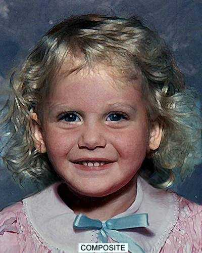 """The remains of this unidentified child were discovered in the Dog River, beneath the westbound lane of I-10 in Pascagoula, MS, on December 5, 1982. The child is believed to have been deceased for 36 to 48 hours prior to the discovery of her body. It was determined that she was 2'6"""" in height and weighed between 20-25 lbs. She had blonde hair and her eye color was either brown or blue. The image is a computer generated facial reconstruction done by a forensic artist at the National Center for Missing & Exploited Children. Features such as eye color and hair style are the estimations of the artist to complete the image and should not be used as a significant marker for identification. The """"DOB"""" and """"Age Now"""" fields are approximations."""