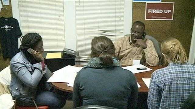 Campaign volunteers prep for Election Day