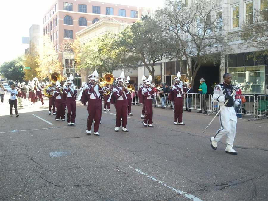 The Lanier High School marching band performed in Saturday's parade.