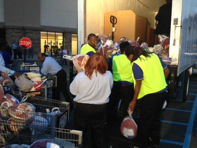 Nearly 700 turkeys were collected during Turkey Drive 16.