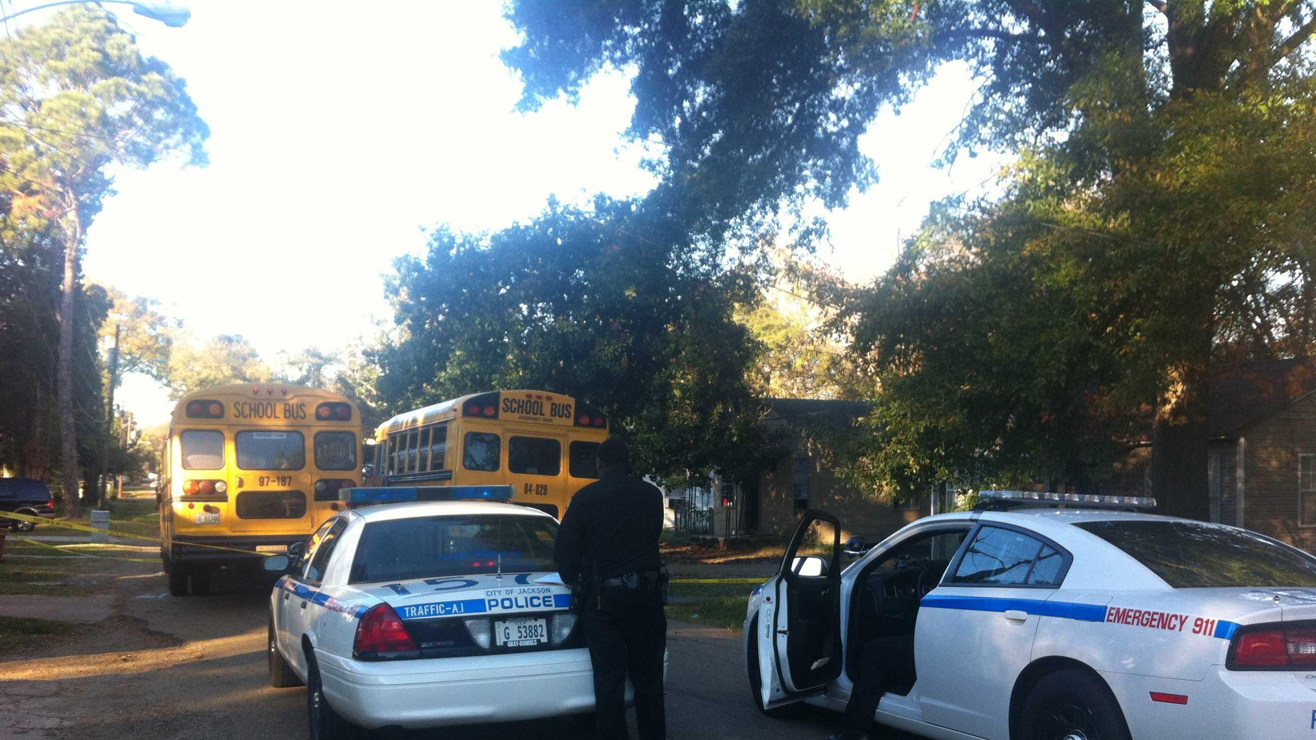 Child hit by school bus