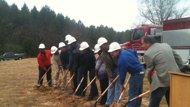 Canton fire station ground breaking