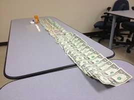 Police seized $368 in cash.