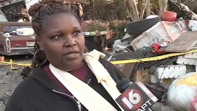 A Jackson woman was badly injured after an airplane plunged into her home.