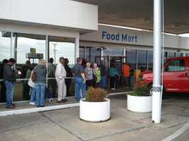 People are lining up in Delta, La., to buy Powerball tickets. Delta is a few miles from Vicksburg.