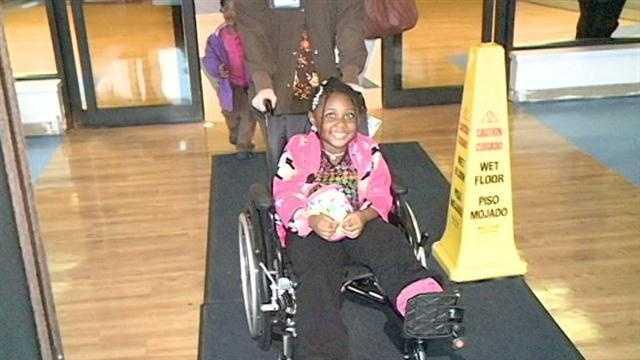 Nadya Slocum leaves hospital