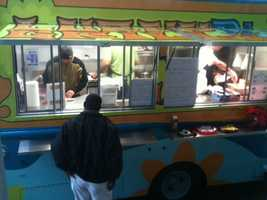 The truck offers a variety of burgers and hand-cut fries.