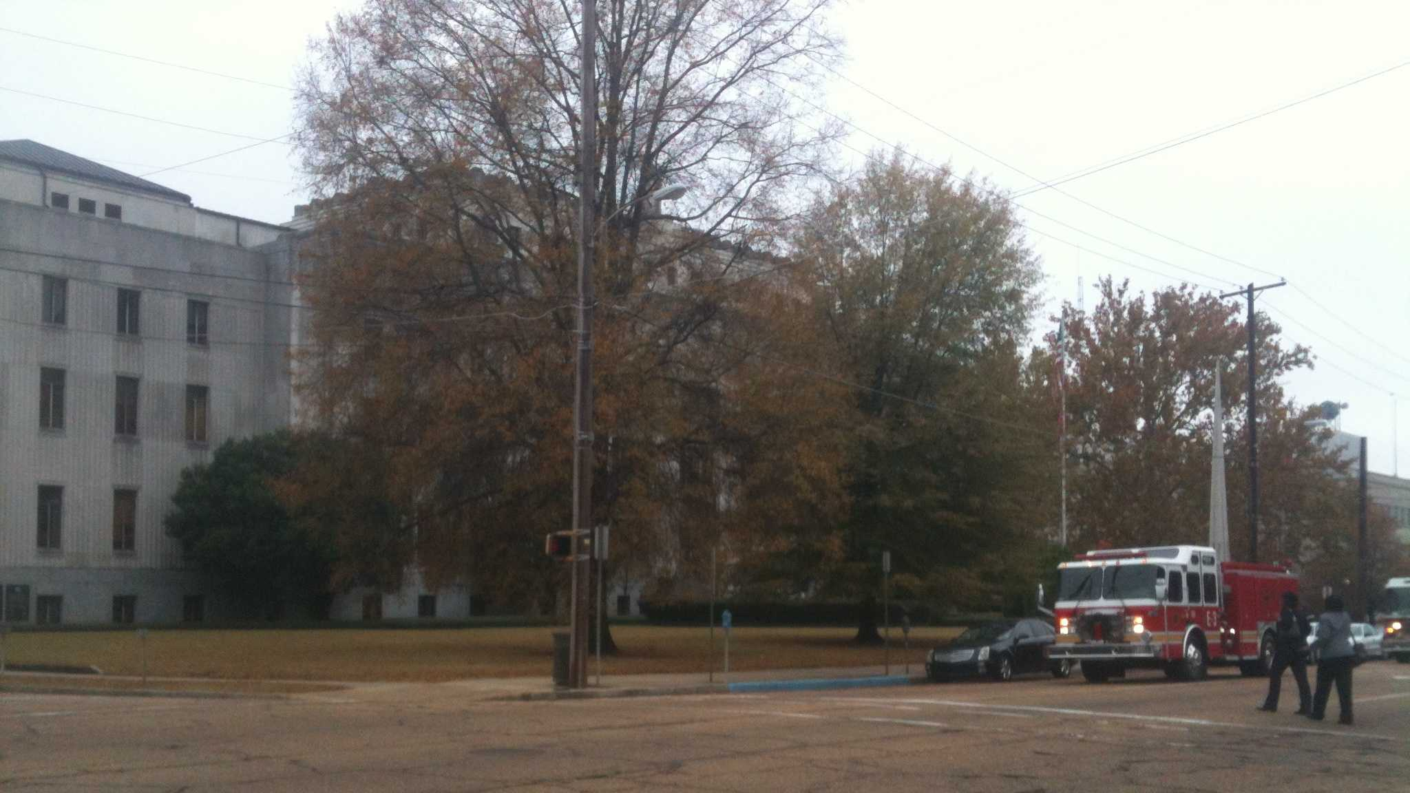 Hinds County Chancery Court evacuated