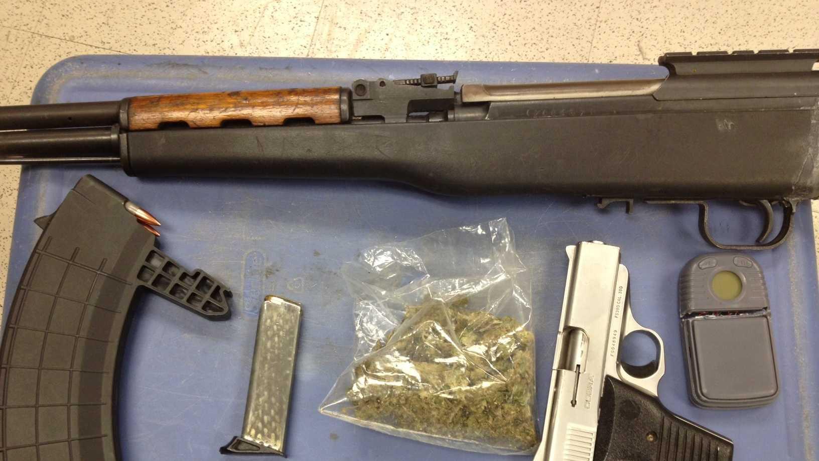 jpd seizes drugs guns