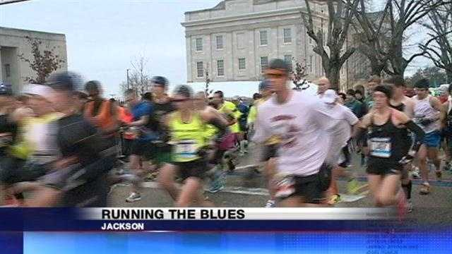 A marquis event in Jackson, and what an event. The 16 WAPT team joined thousands on the streets this morning for the sixth annual Blues Marathon.
