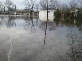 The storm also produced flooding in Tallulah, La.