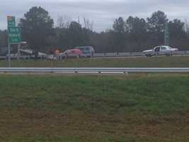 Another wreck happened at Interstate 20 eastbound before the Gallatin Street exit.
