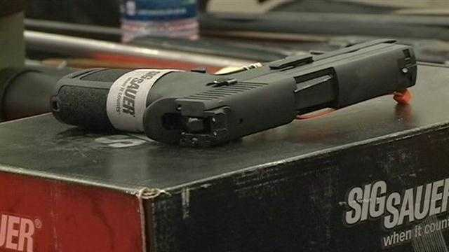 THAT DEADLY SCHOOL SHOOTING IN CONNECTICUT.    ORGANIZERS ARE PREPARING FOR THIS WEEKEND'S BIG GUN SHOW AT THE TRADEMART IN JACKSON.