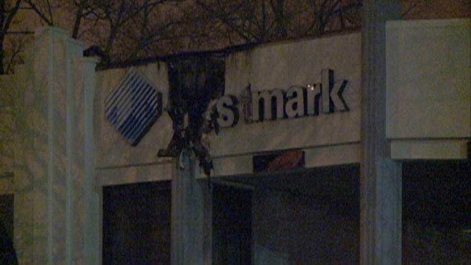 Trustmark bank catches fire in Jackson