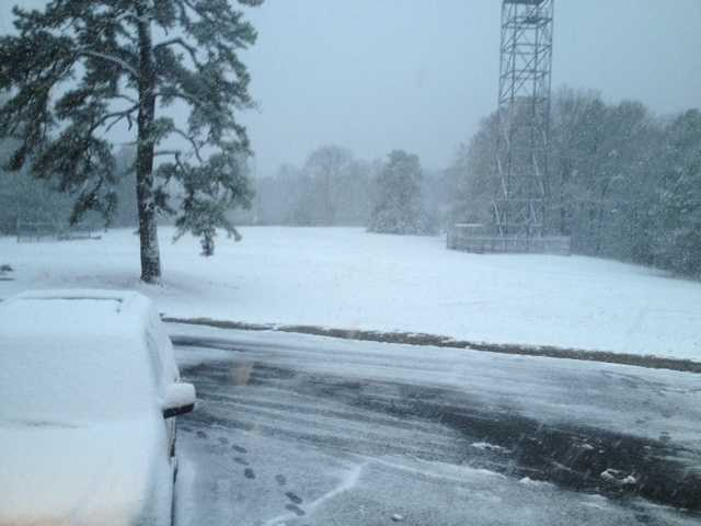 Snow in Jackson.