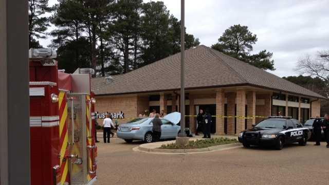 Car into bank