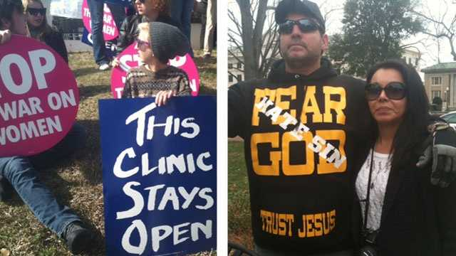 Both sides of abortion issue