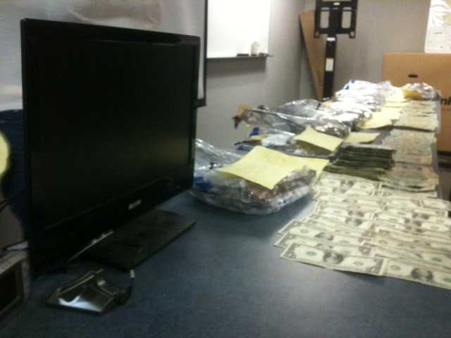 Police also seized a high-tech surveillance system.